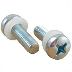 Schraube - M6 silber 19mm Phillips Head Rack Screw