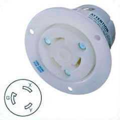US-Flanged Female Outlet HBL2626 NEMA L6-30, 30A, 250V, 2P3W