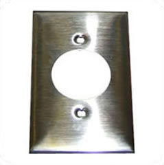 HUBBELL SS720 Wall Plate 1 Gang Twist Lock 20/30 Amp Stainless Steel