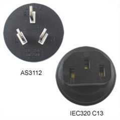 Adapter Australien AS 3112 zu IEC 60320 C13 - 10 Amp 250 Volt