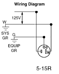 us stecker leviton nema 5 15p 15a 125v 2p3w schwarz NEMA 6- 15 Adapter