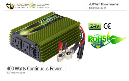 Power Inverter 24VDC 110VAC 400 Watt mod. Sinusausgang, CE