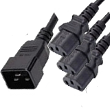 Power Cord Splitter C20 Male to C13 Female