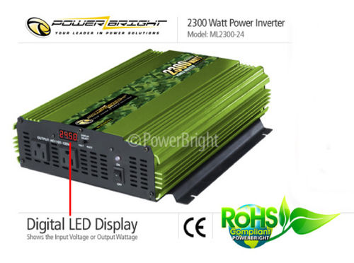 Power Inverter 24VDC 110VAC 2300 Watt mod. Sinusausgang, CE